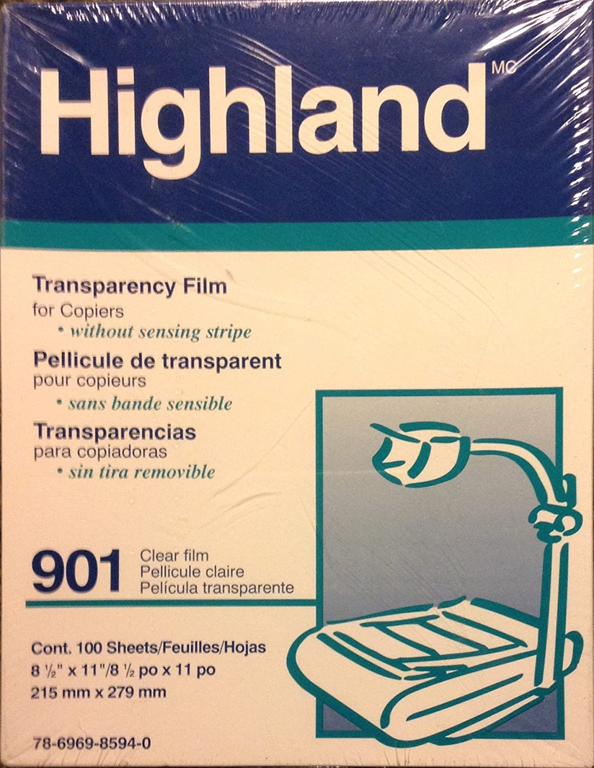 Amazon com: 3M - Transparency Film For Copiers Letter Clear
