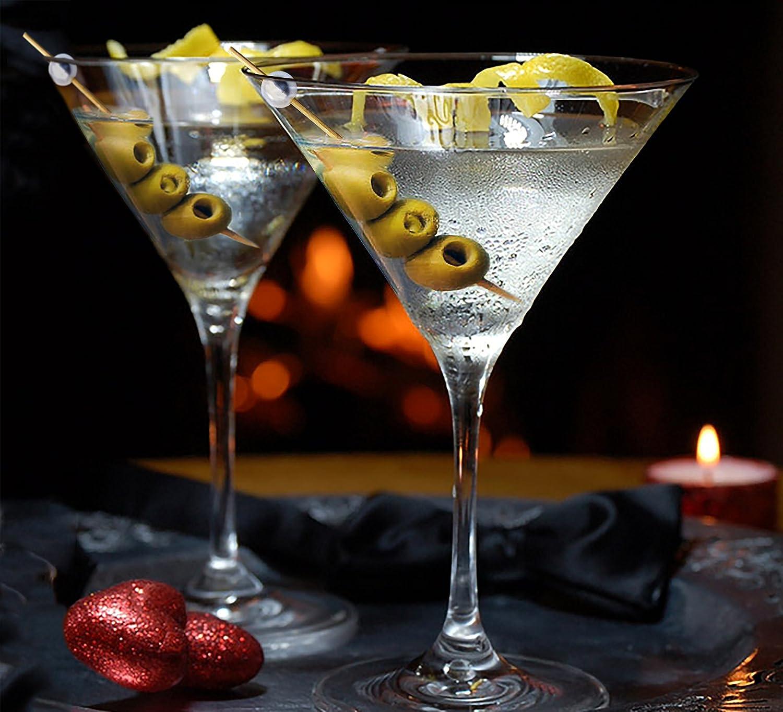 Premium Lames 11,9/cm en bambou Cocktail Picks avec perles blanches Lot de 300/d/écoratifs en bambou brochettes /à cocktail avec perles Perle brillante