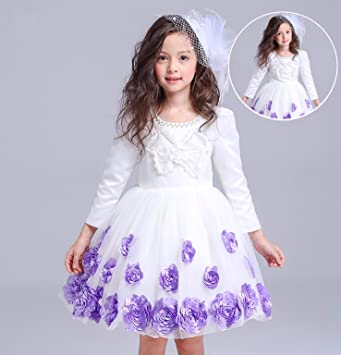 RENQINGLIN Prinzessin Kleid Girls Flower Girl Dress Rock Kleid Rock ...