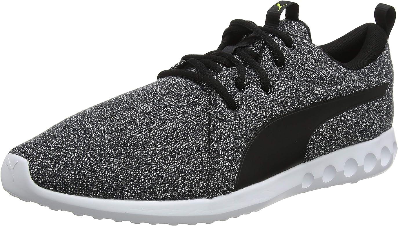 PUMA Carson 2 Knit NM Zapatillas de Running para Hombre,Negro (Puma Black-Puma White-Yellow Alert)  , 39 EU: Amazon.es: Zapatos y complementos