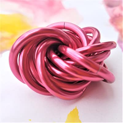 Möbii Sable Rose: Small Fidget Ball Stress Mobius Toy, Restless Hand Office, School, Anxiety