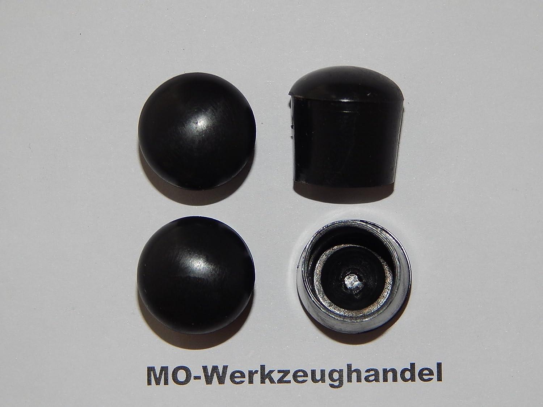 Rohrkappen Rund Farbe: Schwarz aus Kunststoff 16 St/ück Stuhlbeinkappen Innendurchmesser: 16 mm Gleitkappe zum Aufstecken