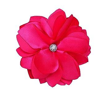 Amazon new bright hot pink flower hair clipbrooch beauty new bright hot pink flower hair clipbrooch mightylinksfo Choice Image