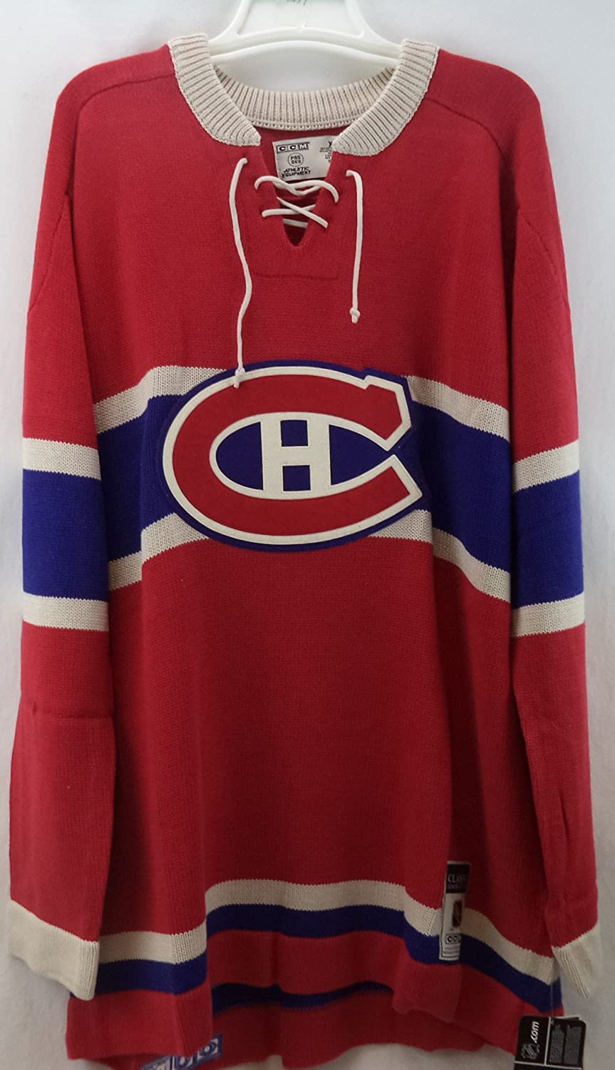 NHL Reebok Montreal Canadiens CCM NHL 1955-56 Classic Heritage Knit Sweater  (X-Large)  Amazon.ca  Sports   Outdoors 043993f3e
