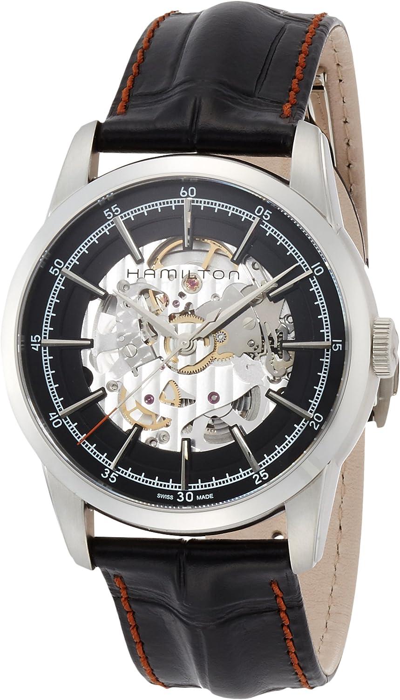 Hamilton Hombre 42mm Negro Suizo Reloj Automático De Pulsera Analógico h40655731
