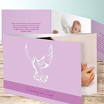 Einladungskarten Zur Taufe Selber Basteln Flügel 70 Karten