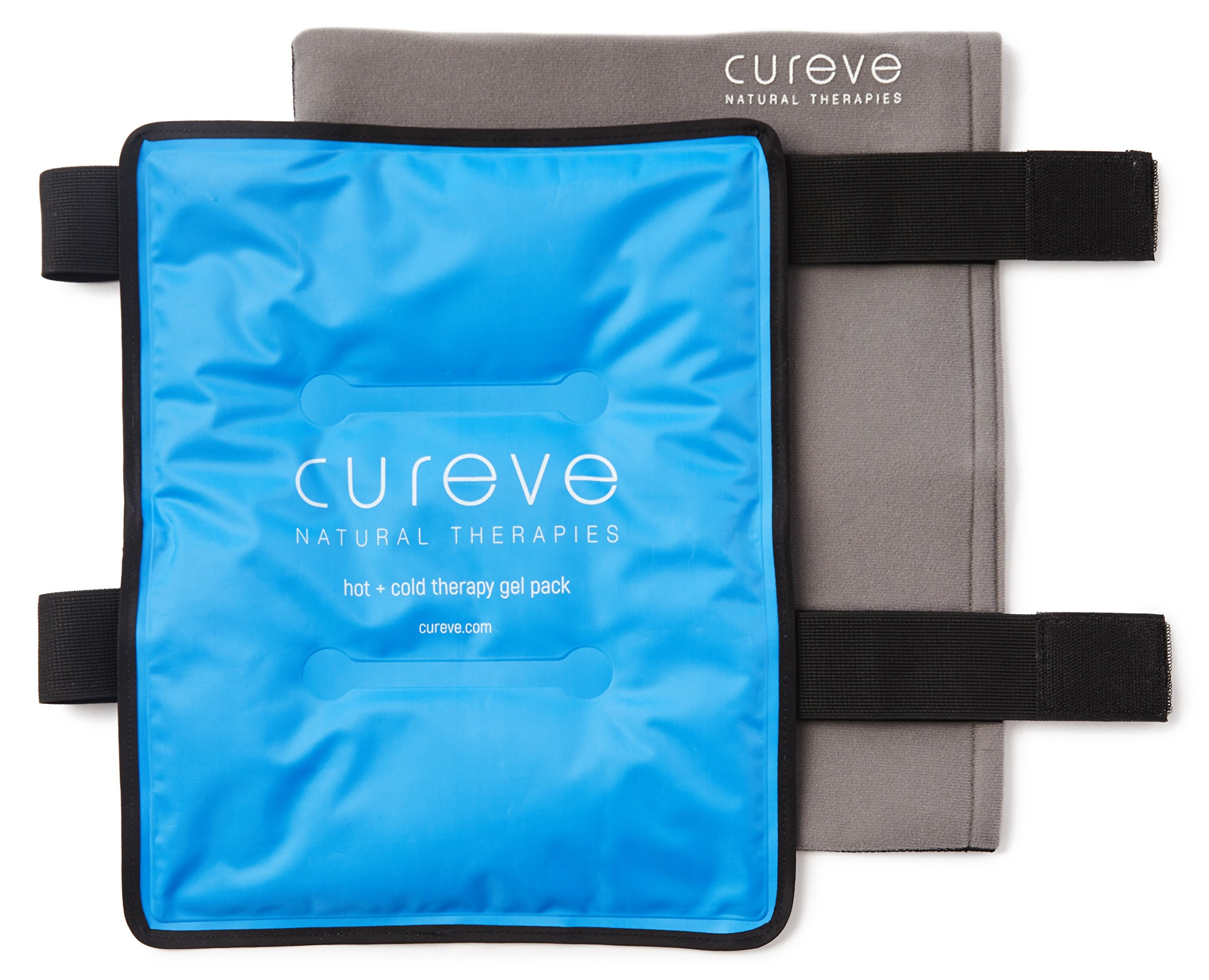 Large Hot and Cold Therapy Gel Pack with Wrap by Cureve (12'' x 15'') - Reusable Ice Pack with Wrap to Treat Injuries, Aches and Pains on Hip, Knee, Side, Back and Shoulder