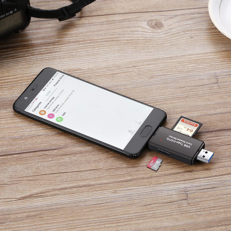Notebook et Smartphone avec Fonction OTG SD//Micro SD Lecteur de Carte et Micro USB OTG /à USB 2.0 Adaptateur avec Standard USB Micro USB Connecteur pour PC Hoonyer Lecteur de Carte M/émoire