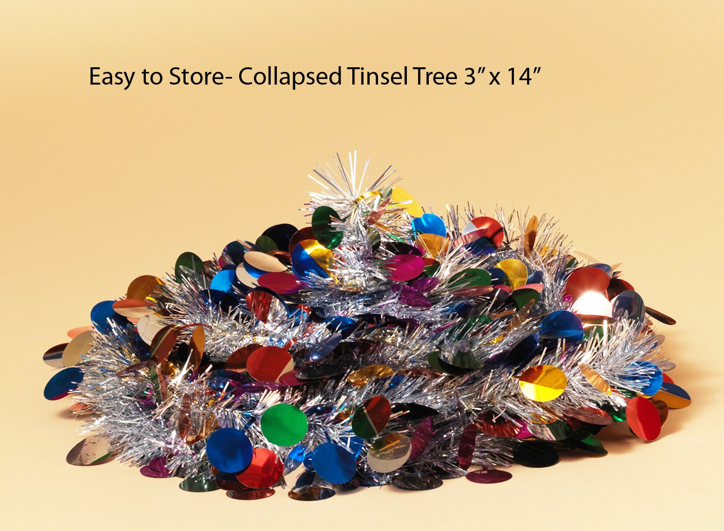 Pop Up Tinsel Tree - Red Christmas Pull Up Tree 5 Feet ...