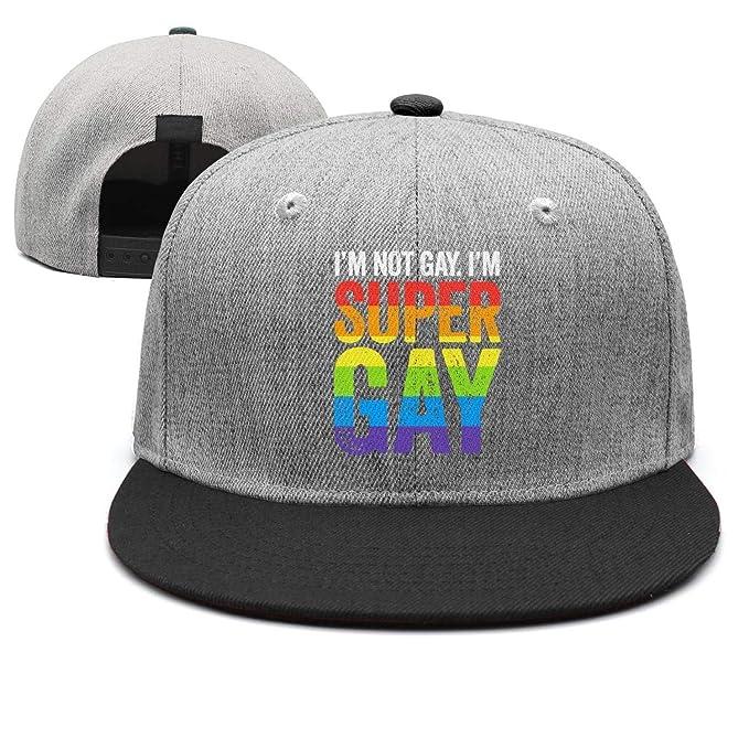 43db28b6c98 Amazon.com  I m Not Gay I m Super Gay Unisex Classic Hip hop ...