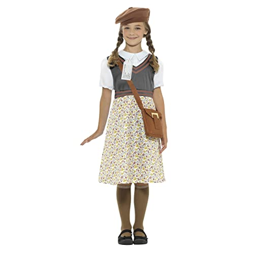 smiffys evacuee school girl childrens fancy dress costume tween 152 163cm