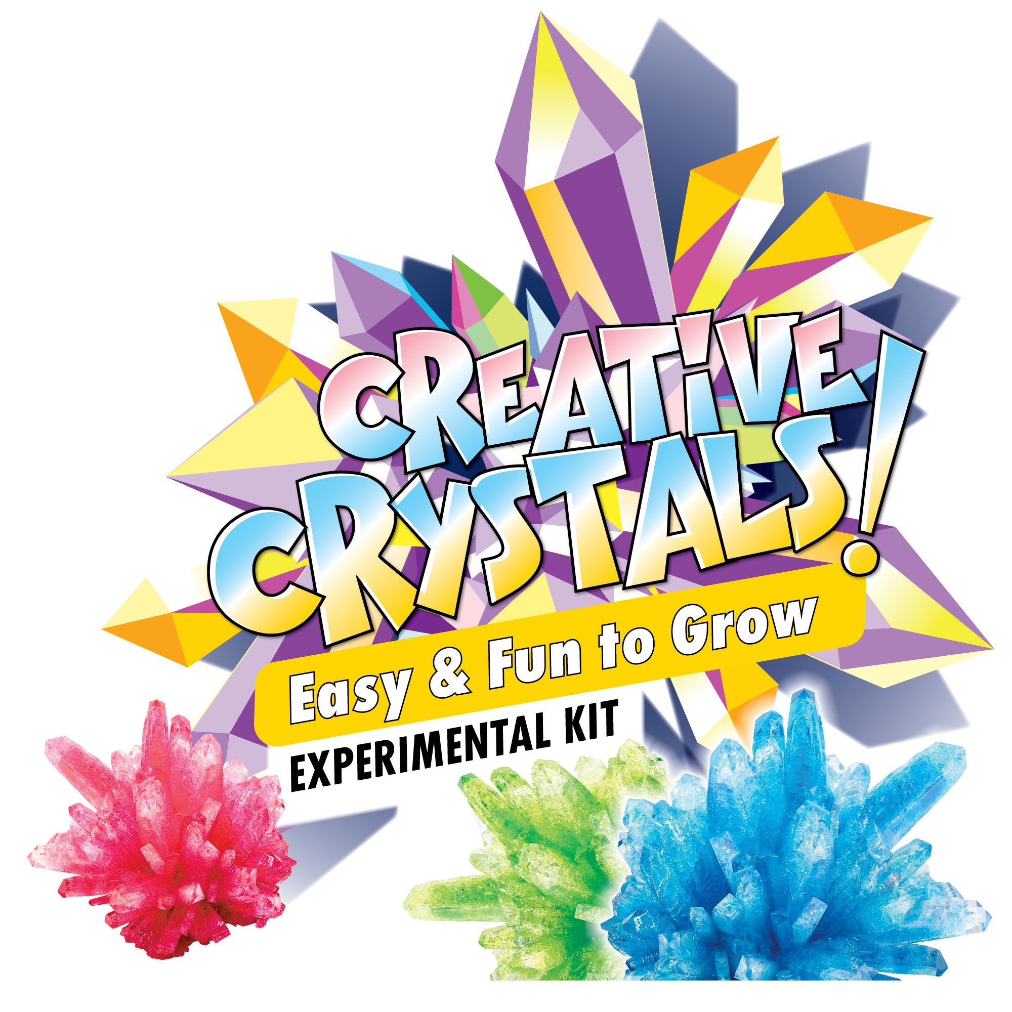 Learn & Climb Crystal Science Kit Kids Ages 5 to 7 - 6 Cool Experiments, Crystal Growing Set Kids Step Step Instruction Manual – Everything Included