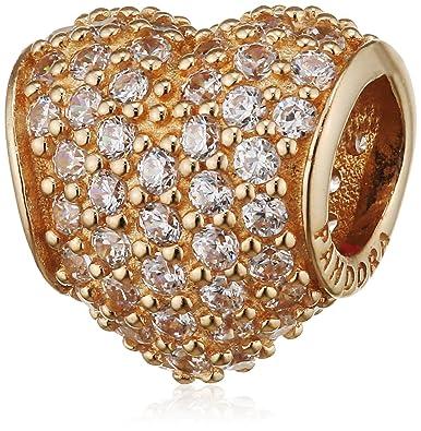 4aedd6314ad39 Pandora 750828cz 14k Gold Pave Heart Charm