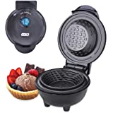 DASH DMWBM100GBBK04 Mini Waffle Maker for Breakfast, Burrito Bowls, Ice Cream and Other Sweet Deserts, Recipe Guide Included,