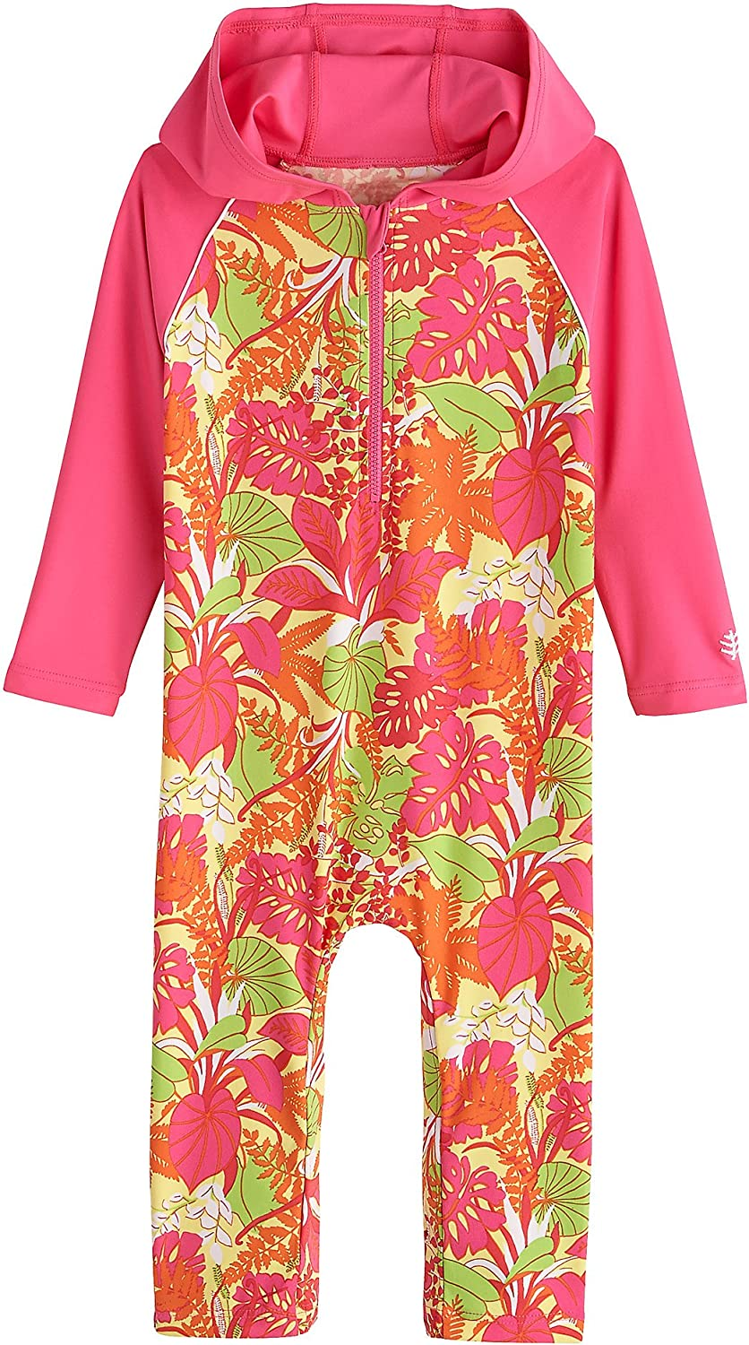 Baby Hooded One Piece Swimsuit Sun Protective Coolibar UPF 50