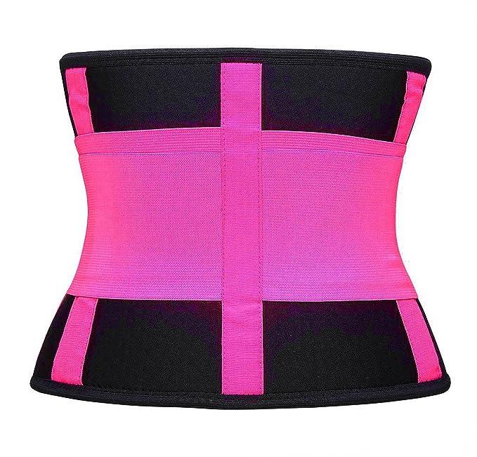 71d8d6a1392 Amazon.com  Running Belt Waist Trainer Sport Cincher Tummy Underbust Corset  Body Shaper Pink  Clothing