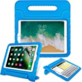 "Fintie Case for Apple iPad 9.7 Inch 2018 Model (6th Gen) / iPad 9.7"" 2017 Model (5th Gen) / iPad Air - Kiddie Series Light Weight Shock Proof Convertible Handle Stand Cover Case Kids Friendly (Blue)"