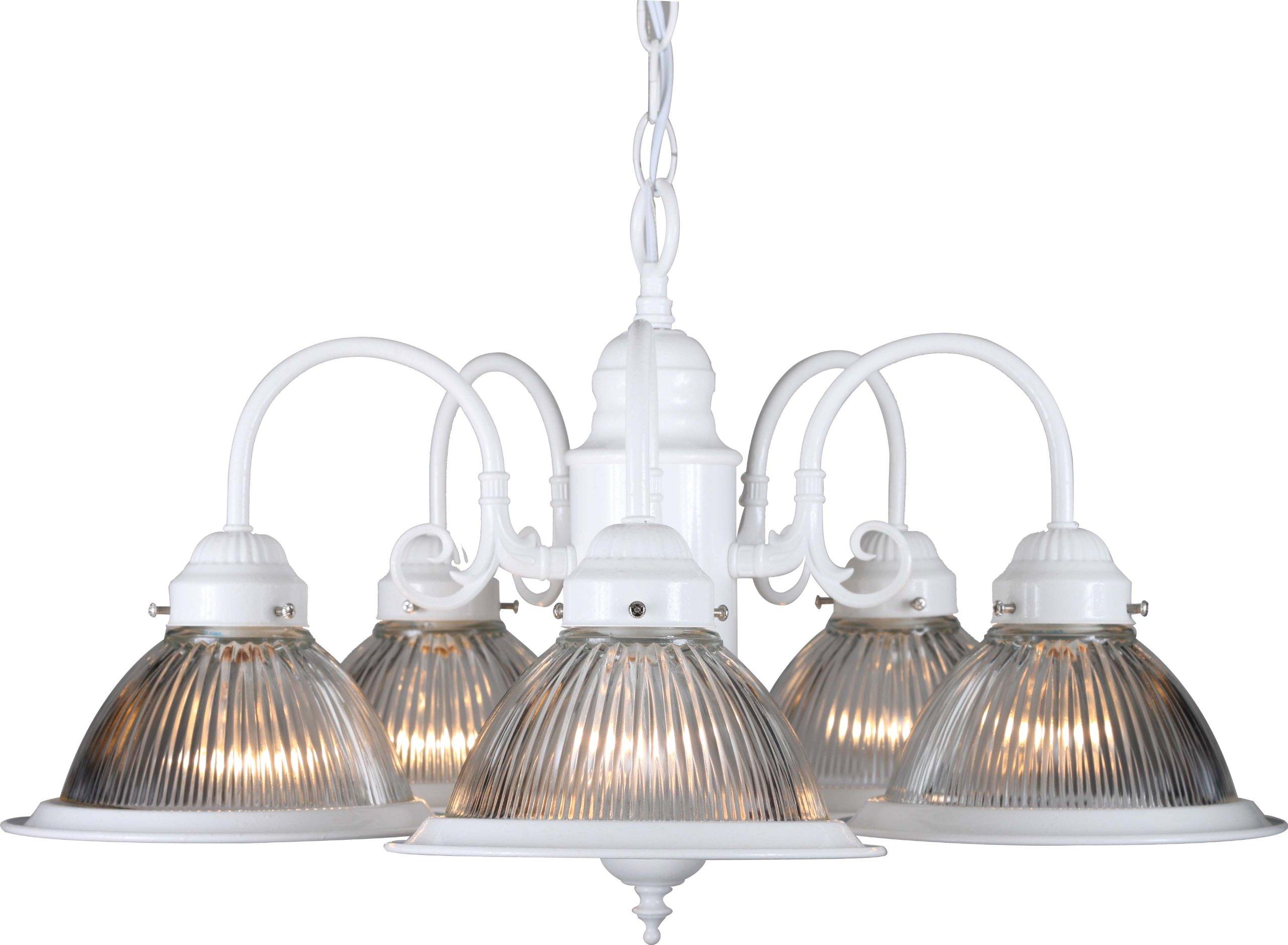 Volume Lighting V4745-15 Roth 5-Light Chandelier, 23'' x 23'' x 14'', Textured White