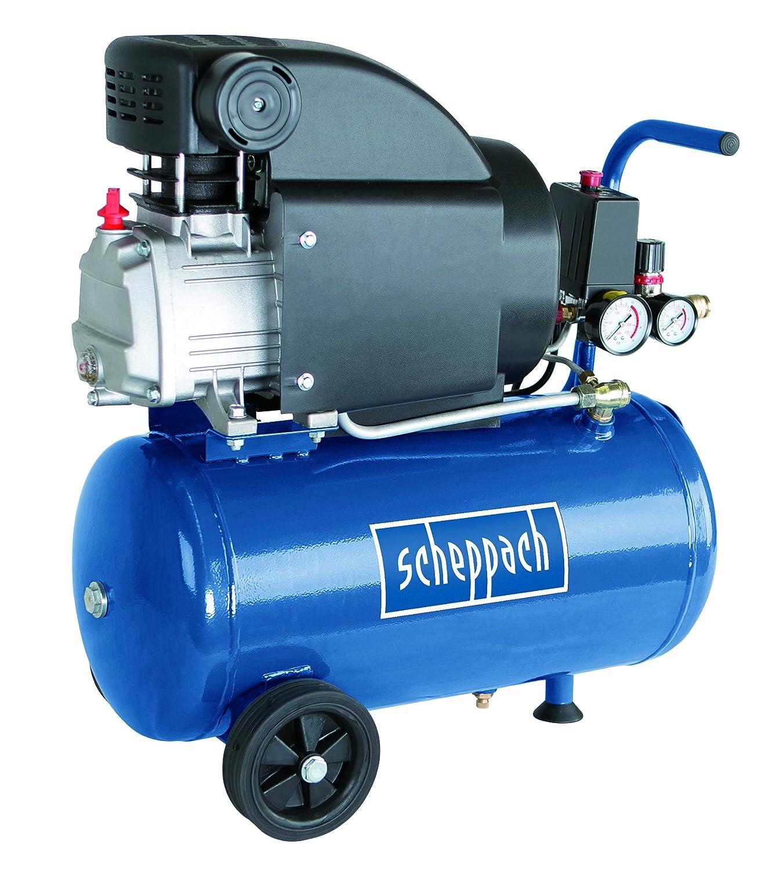 Scheppach Kompressor HC25 (1500 Watt, 24 L, 8 bar, Ansaugleistung 220L/min, ö lgeschmiert) 5906115901