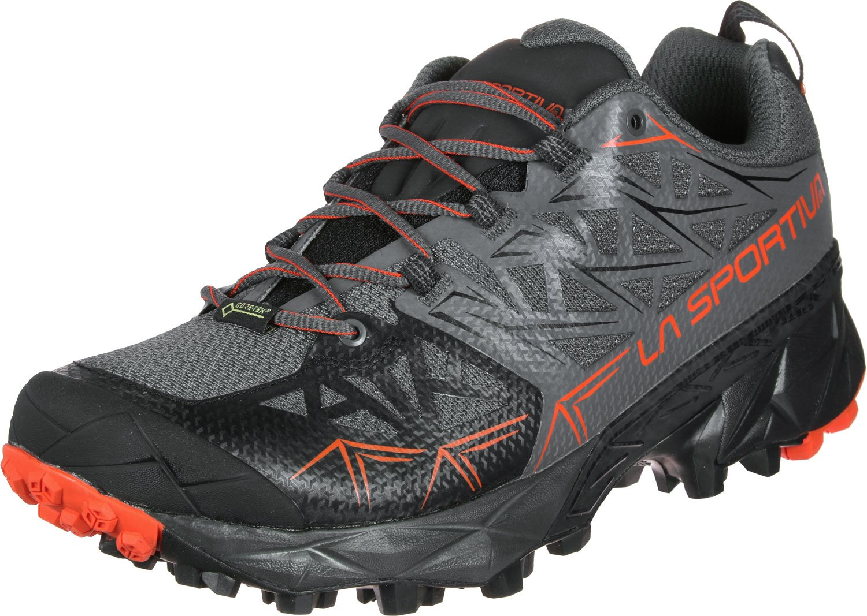 La Sportiva Akyra GTX, Zapatillas de Trail Running para Hombre 42.5 EU Multicolor (Carbon/Tangerine 000)