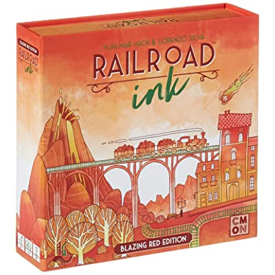CMON RRI002 Rri002 Railroad Ink: Blazing Red: Toys & Games