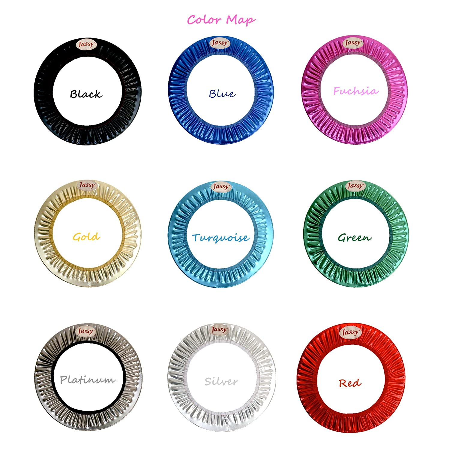 Designed for Rhythmic Gymnastics Unique Metallic Colors Jassy Hoop Cover Fit Sizes 60-90 cm Hula Hoops