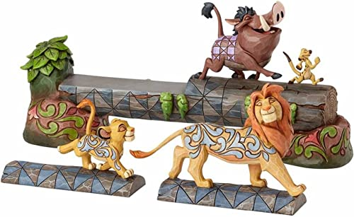 Enesco Jim Shore Disney Traditions The Lion King Simba, Timon, and Pumba Stone Resin Figurine, 7.5 , Multicolor