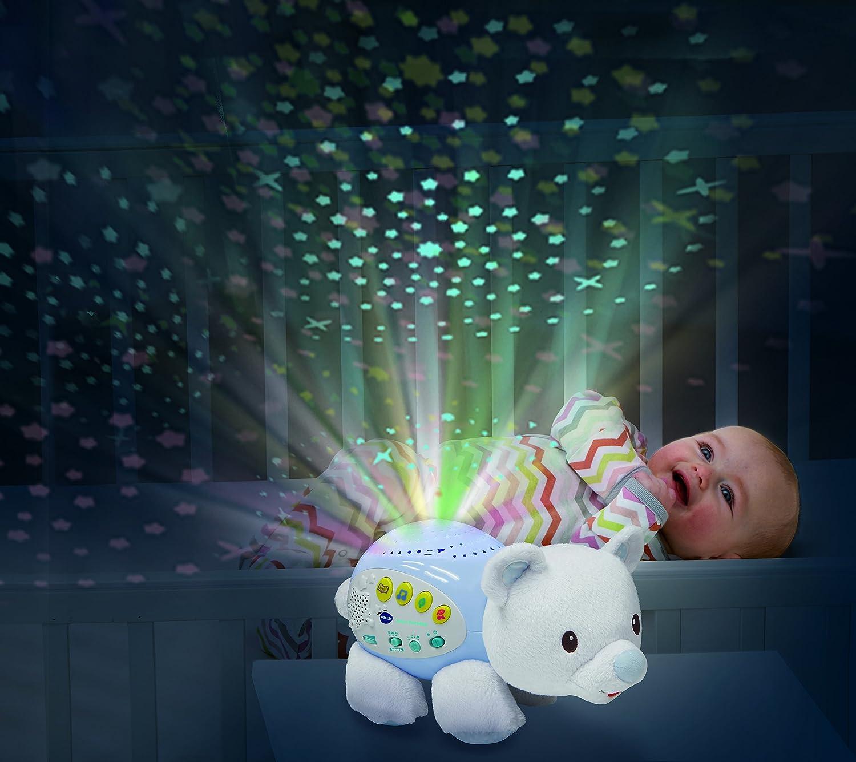 80-180922 VTech Baby versi/ón espa/ñola Color p/úrpura Proyector Musical POPI Estrellitas