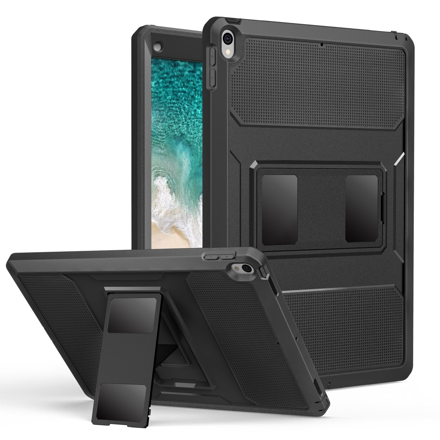 buy popular b8718 75339 MoKo Case for iPad Pro 12.9 2017 - [Heavy Duty] Shockproof Full Body Rugged  Hybrid Cover with Built-in Screen Protector for Apple New iPad Pro 12.9 ...