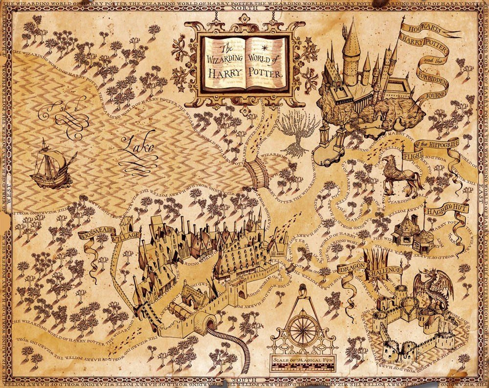 bribase shop HARRY POTTER WIZARDING WORLD MAP GIANT POSTER X3197 43x32