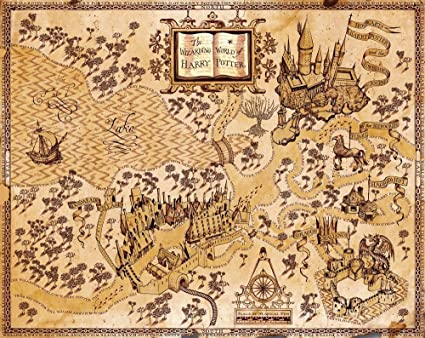 Amazon bribase shop harry potter wizarding world map giant bribase shop harry potter wizarding world map giant poster x3197 32x24 gumiabroncs Image collections