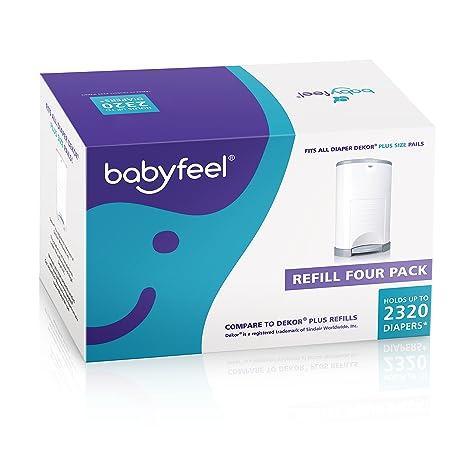Amazon.com: Paquete de 4 recambios Dekor Plus de Babyfeel ...