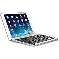 BRYDGE 9.7, Hochwertige Bluetooth Tastatur aus Aluminium, deutsches Layout QWERTZ, für das iPad Air, Air 2, iPad Pro, iPad 2017 und das neue iPad 2018, silber