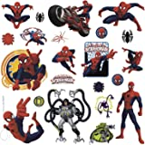 RoomMates RMK1795SCS Ultimate Spiderman Peel and Stick Wall Decals, 22 Count