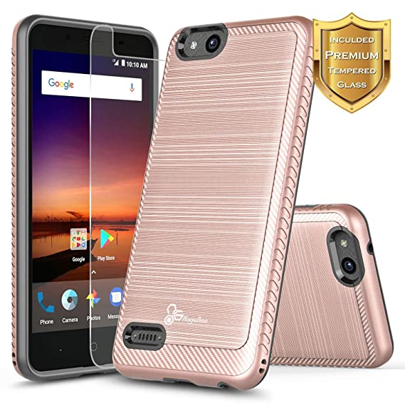 Amazon com: NageBee [Brushed] Case Compatible ZTE ZFive C LTE