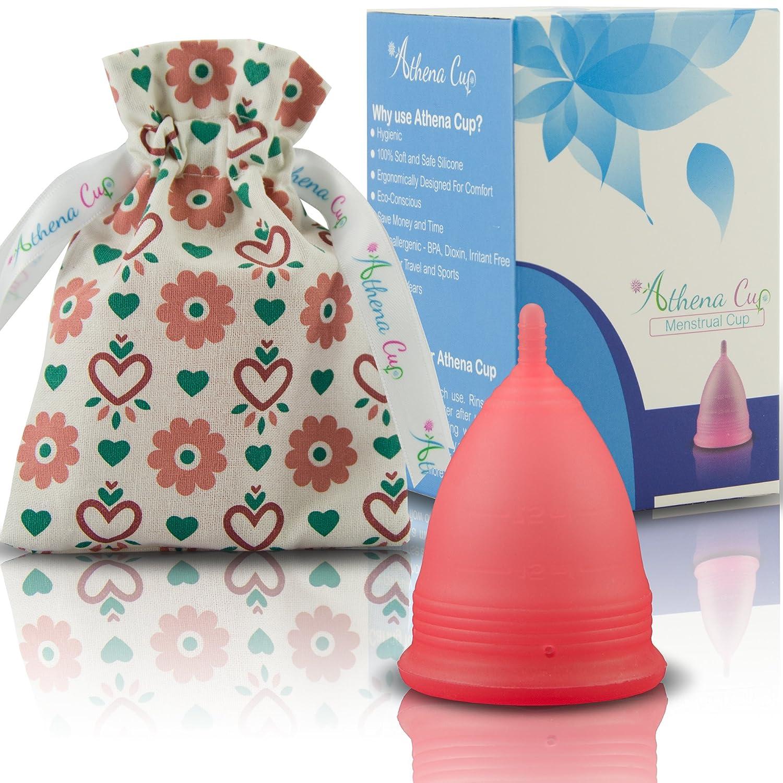 Silicone Tr/ès Douce Et /à Peine Perceptible Violet Transparent Coupe Menstruelle Athena Garantie Sans Fuites Ou D/émangeaisons Taille 2