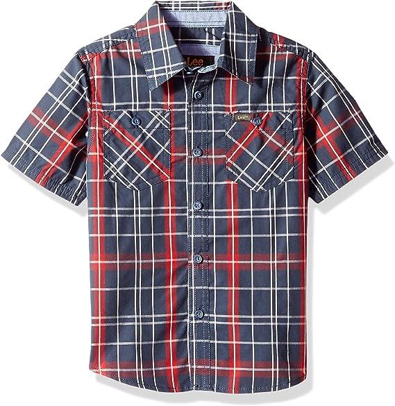 LEE Boys Short Sleeve Button Up Shirt