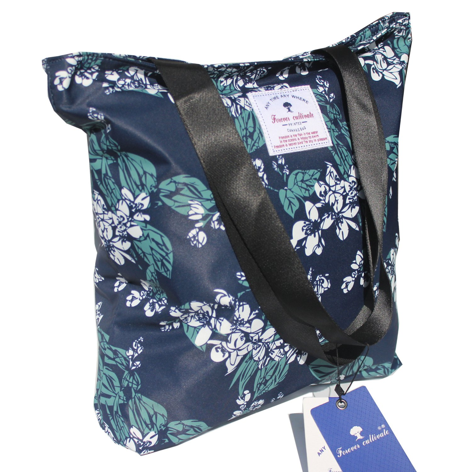 Original Floral Tote Bag Shoulder Bag for Gym Hiking Picnic Travel Beach  product image a61472da92