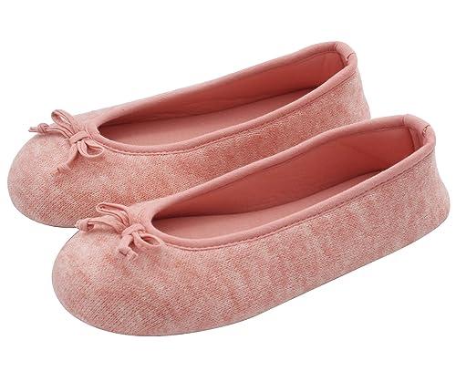 HomeTop - Zapatillas de Estar por casa de algodón para Mujer, Color Rosa, Talla 38 EU-39,5 EU/L: Amazon.es: Zapatos y complementos