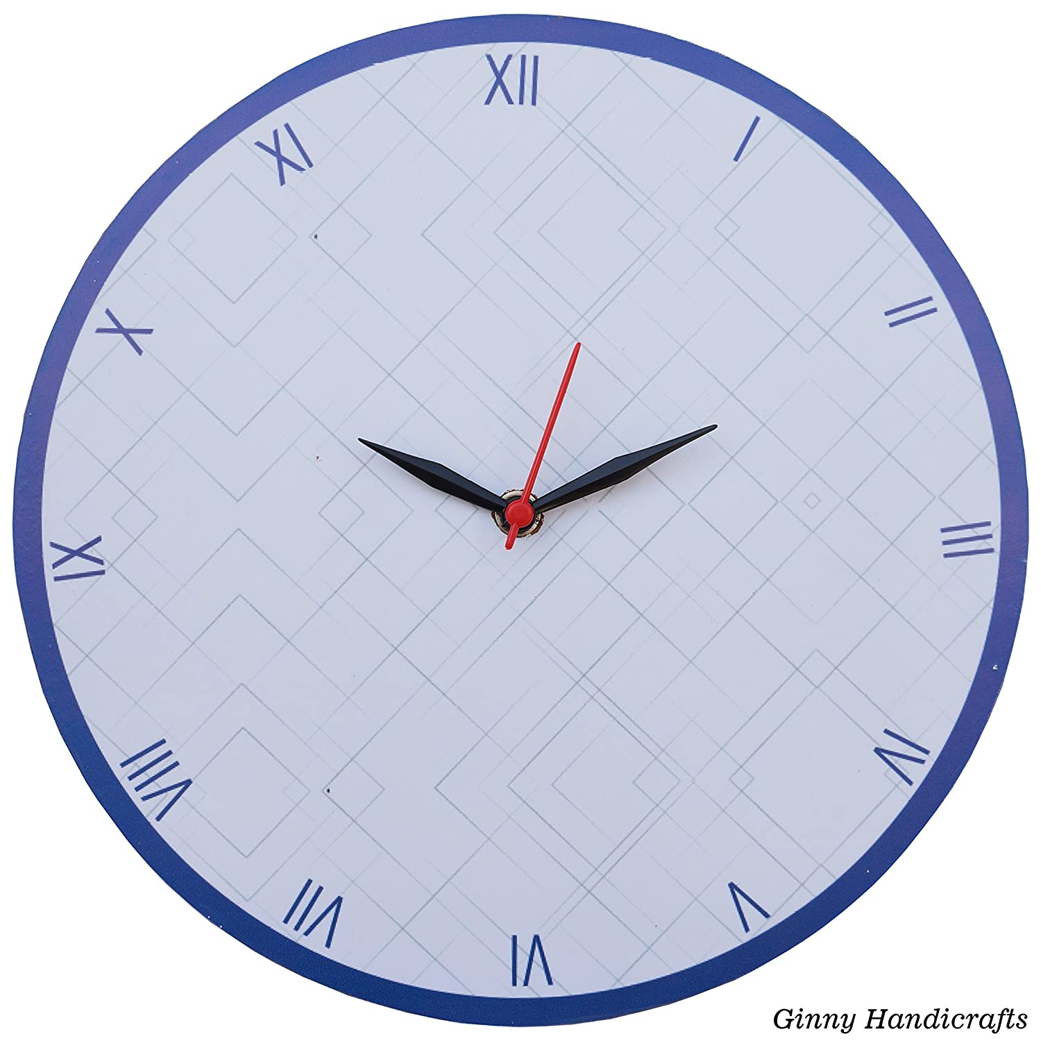 Wooden Wall Clock Round Shape Professional with fantastic Elegant Office Home Decor /& Gifts Ginny Handicrafts CL1127