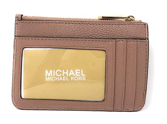 eb820ef1dfc1 Michael Kors Adele Small Top Zip Coin Pouch ID Card Case Wallet (Black) at  Amazon Women s Clothing store