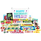 Woodstock Candy 1973 45th Birthday Gift Box - Retro Nostalgic Candy Mix for 45 Year Old Man or Woman Jr.