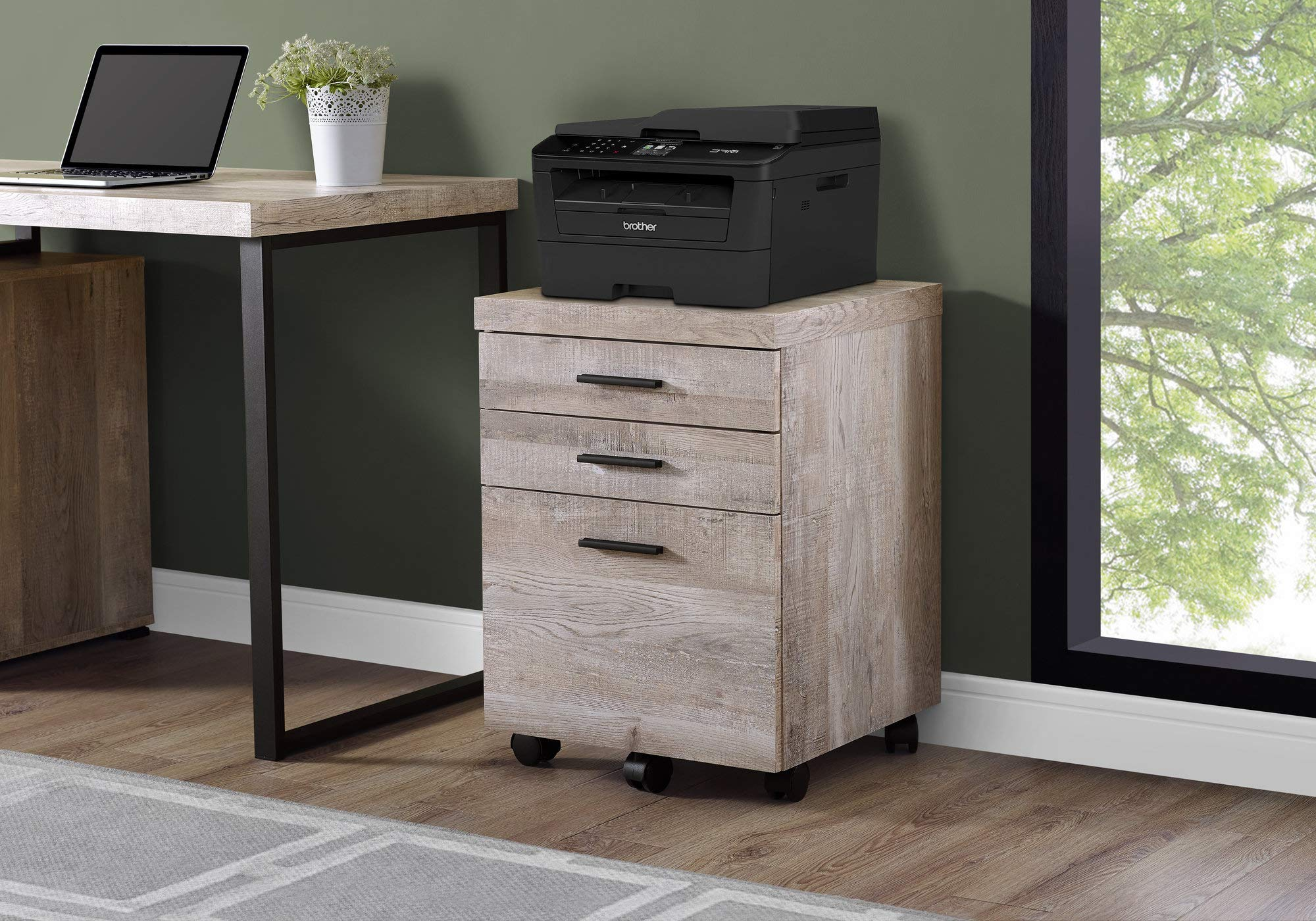 Monarch Specialties I I 7402 Filing Cabinet, Taupe