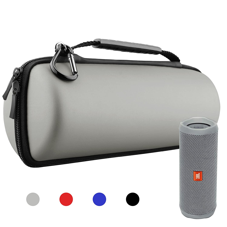 Hanlesi Case for JBL Flip 4 and Flip 3, Waterproof Carrying Accessories Case Wireless Bluetooth Speaker Travel Bag for Flip4 / Flip3 Black