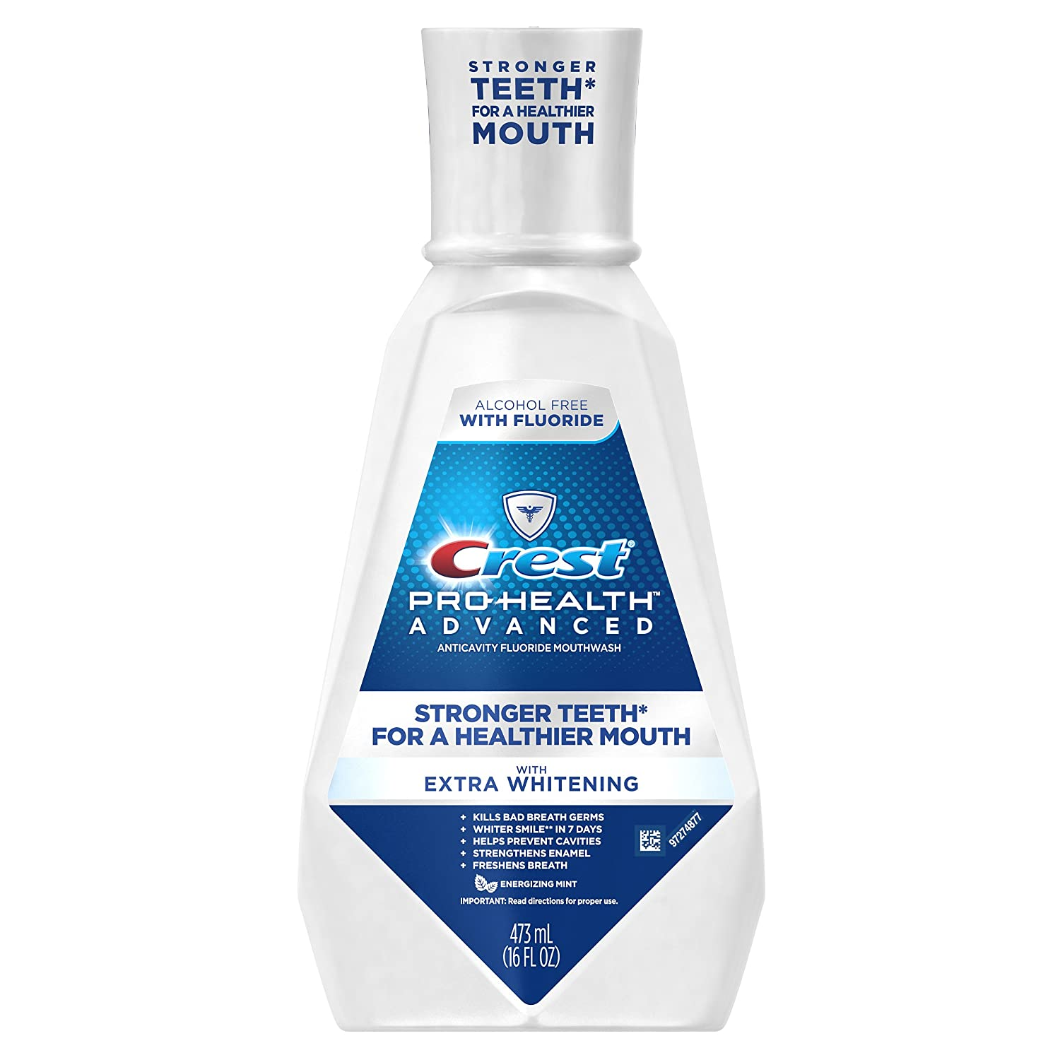 Crest Pro-Health Advanced Mouthwash with Extra Whitening, Energizing Mint, 16 Fluid Ounce