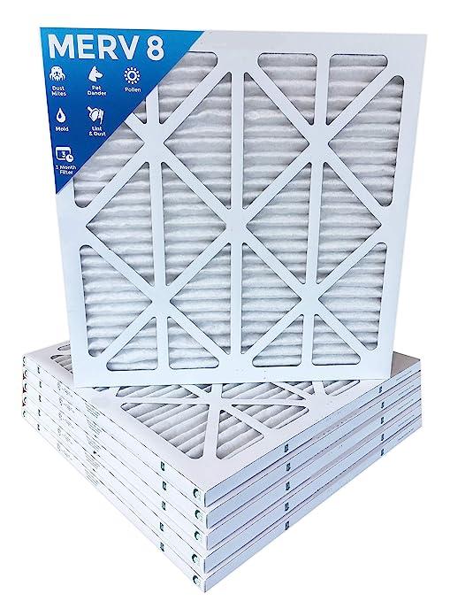 18x18x1 merv 8 pleated ac furnace air filters. 6 pack - - .com