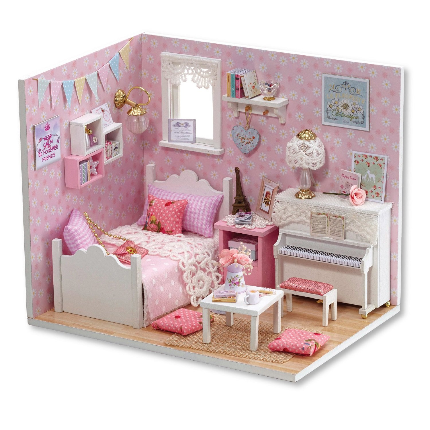 Cuteroom Diy Wooden Dollhouse Handmade Miniature Kit Sunshine Princess Bedroom Model Furniture Buy Online In Montenegro At Desertcart Com Productid 60580263
