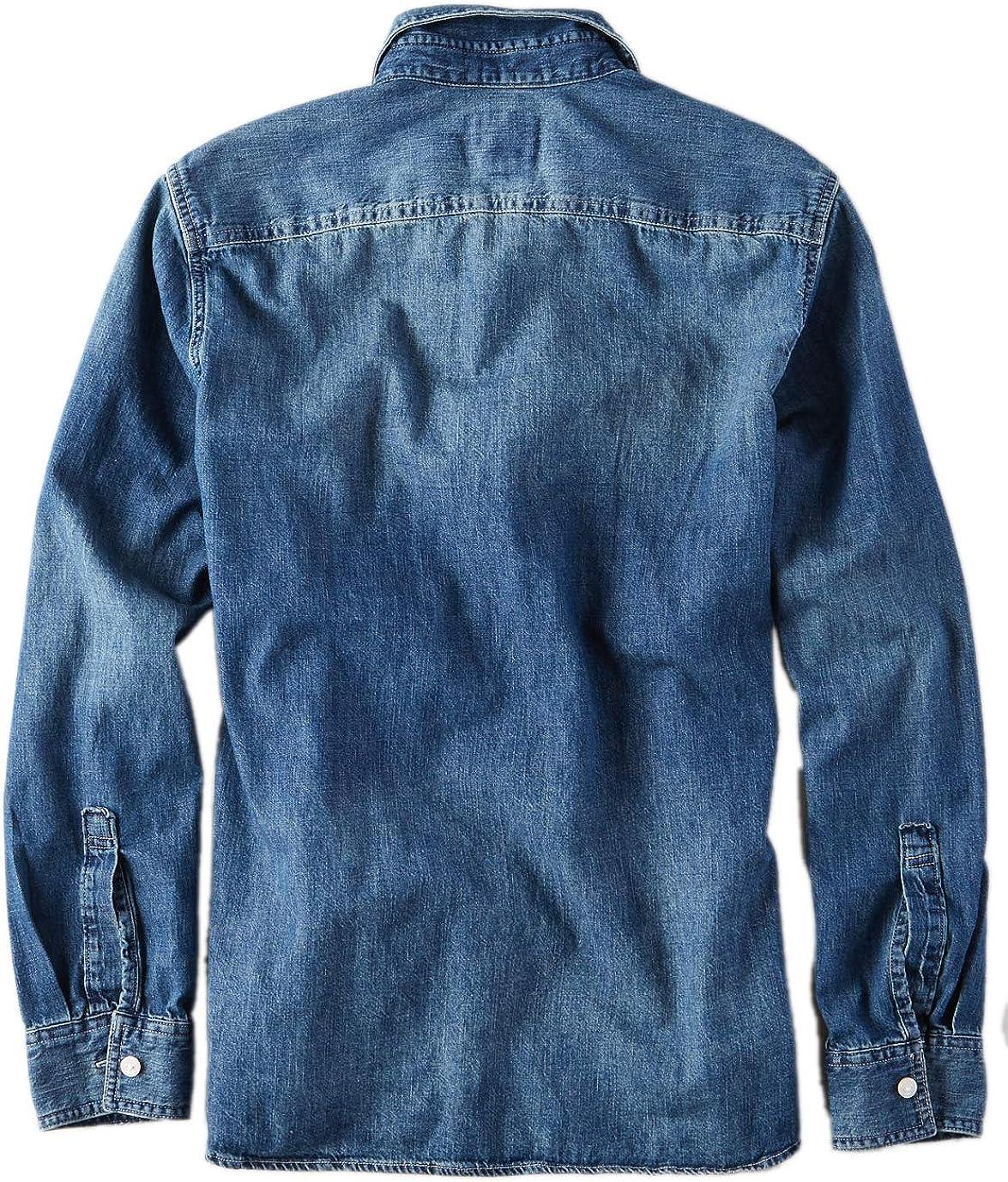 American Eagle 1438408 Camisa de Manga Larga de Mezclilla con ...