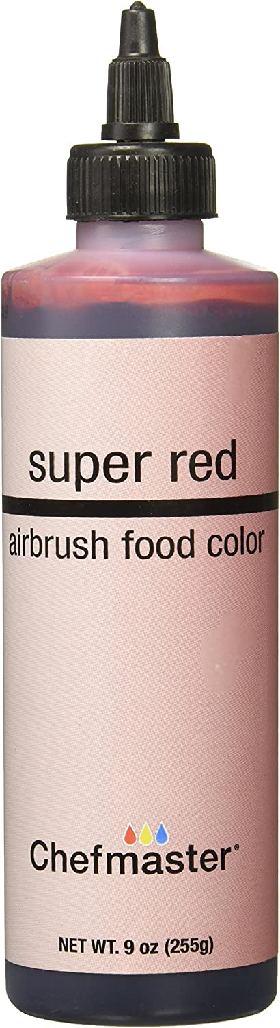 Chefmaster Airbrush Spray Food Color, 9-Ounce, Super Red
