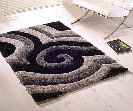 Pavimenti Per Soggiorno E Cucina : Tappeto per pavimento del soggiorno tridimensionale nero grigio